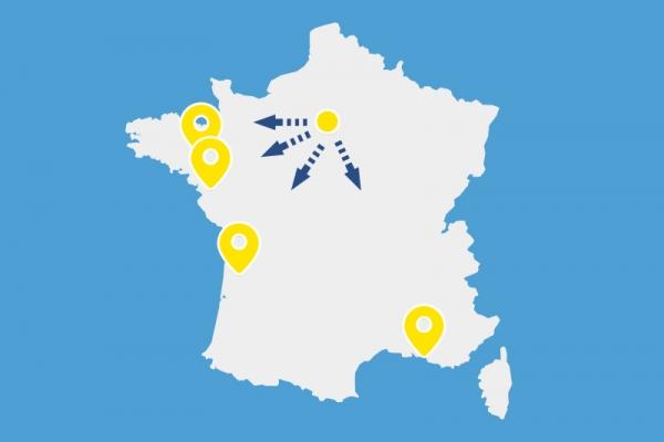 Emploi intérim - Nantes, Rennes, Marseille et Bordeaux bientôt pris d'assaut par les franciliens ?