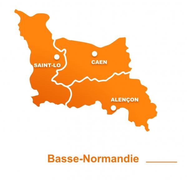 Carte Caen